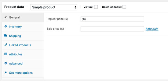 Add product data