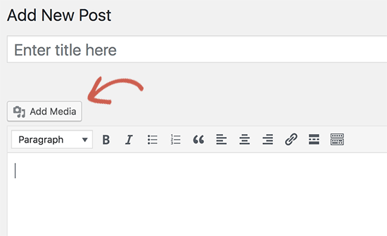 Add media button not working