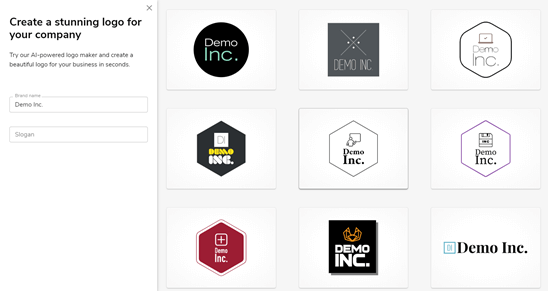 Nine additional logos created by Constant Contact