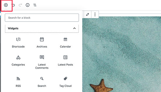 Adding widgets in WordPress posts and pages