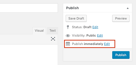 Change when to publish a post in WordPress