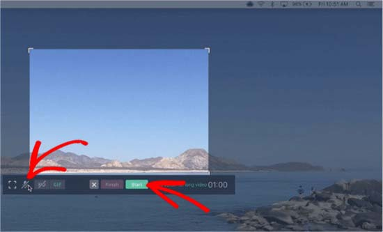 Screen recording with audio
