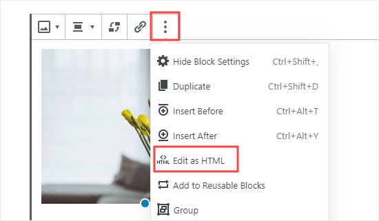 Editing your image as HTML