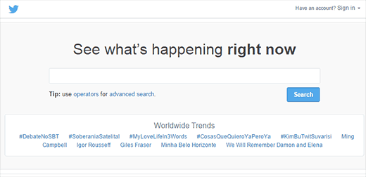 Using Twitter Search to find post ideas